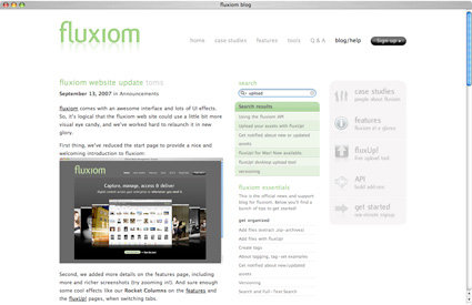 fluxiom blog screenshot