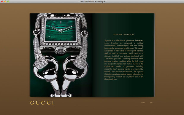 Gucci e-catalogue