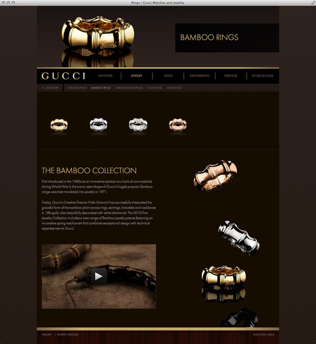 Bamboo Rings, Guccitimeless.com