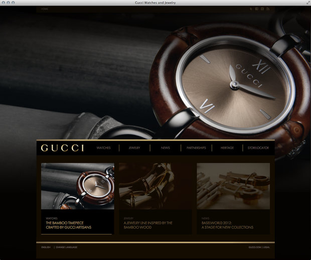 Guccitimeless.com homepage