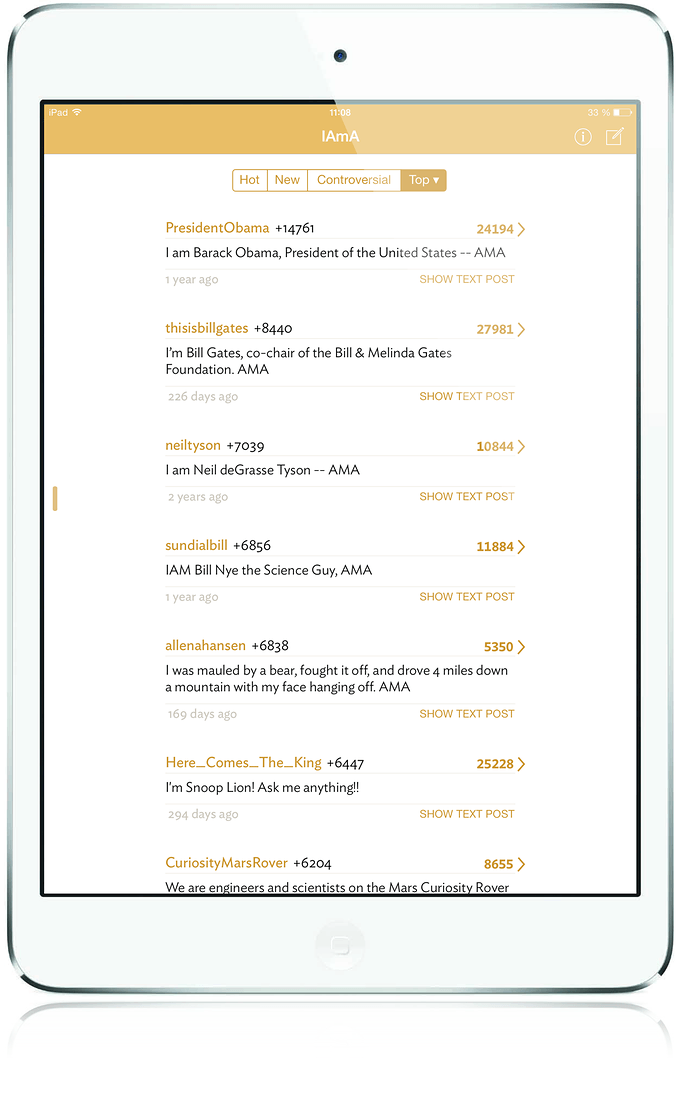 biscuit rediscover reddit on your ipad