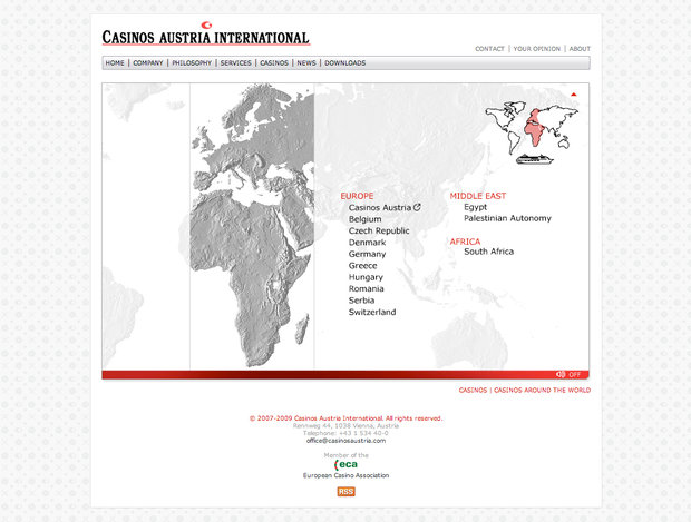 Casinos Austria International website