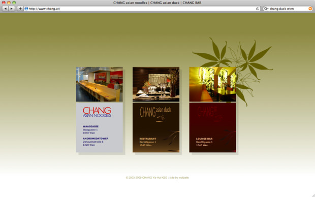 Chang restaurants website