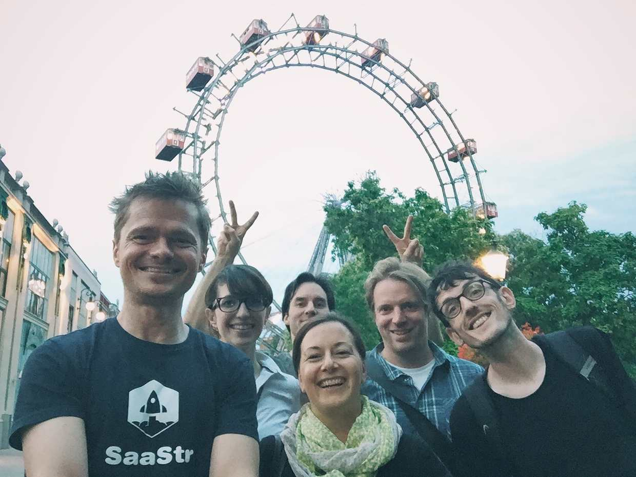 Wollzelle Team and the Riesenrad in Vienna