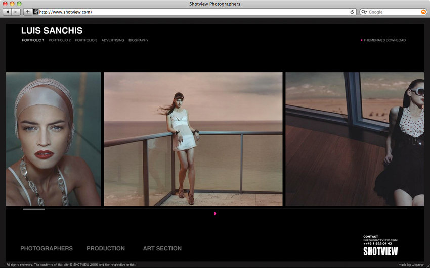 No gallery too big: funky layouts and download buttons kept it efficient and appealing